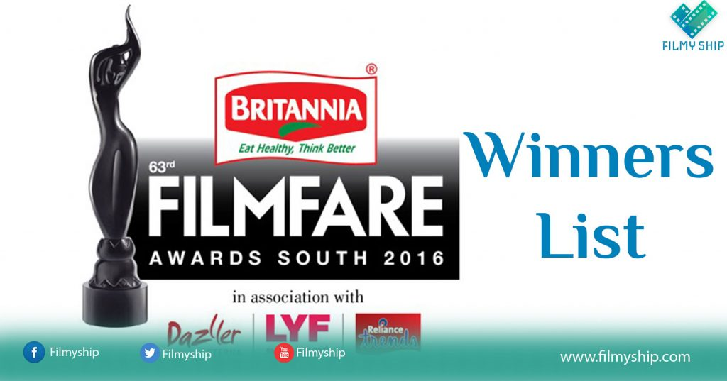 63rd Filmfare Awards South Winners