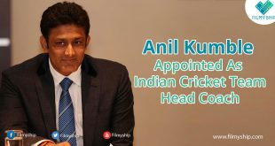 Anil Kumble  Appointed As  Indian Cricket Team Head Coach