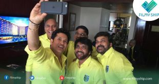 Megastar Chiranjeevi & Nagarjuna Joined With Sachin Tendulkar for ISL