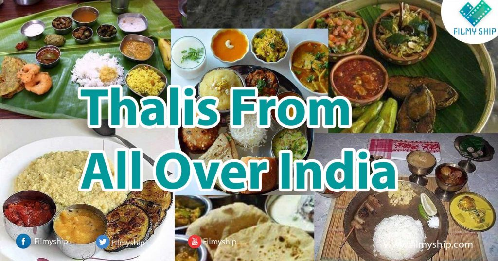 Indian meal thali