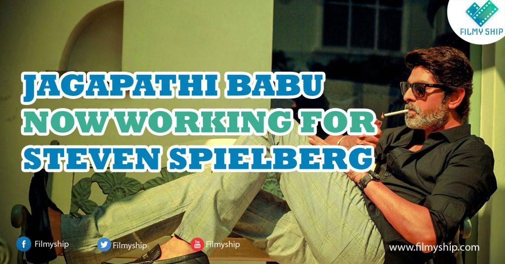 Jagapathi-babu Steven Spielberg