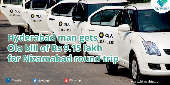 Hyderabad man gets Ola bill
