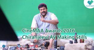 CineMAA Awards 2016 Chiranjeevi AV Making Stills